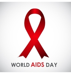 Red Ribon - Symbol of 21 December World AIDS Day vector