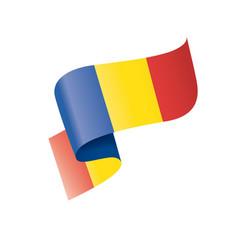 romania flag on a white vector image