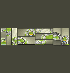 set golf banners vector image