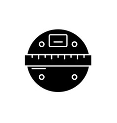 Smart scales black icon sign on isolated vector