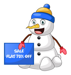 snowman on sale on white background vector image