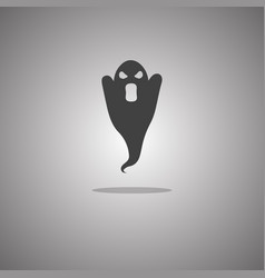 Specter silhouette isolated vector