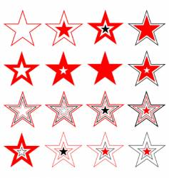Stars design elements vector