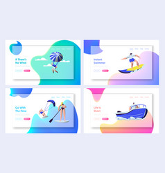 summer sports activity website landing page vector image