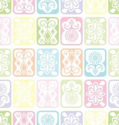 Tile ornament soft vector image