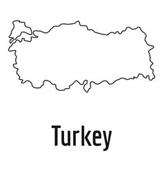Turkey map thin line simple vector