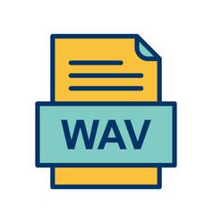 Wav file document icon vector