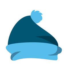 Winter beanie hat vector