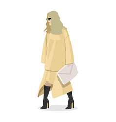 women dressed in stylish trendy clothes - female vector image