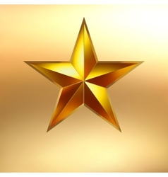 a Gold star background EPS 8 vector image vector image
