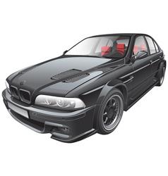 black custom car vector image