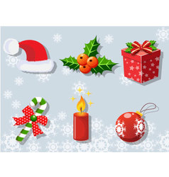 Christmas set of icons collection 2 vector image vector image