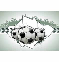 football graffiti vector image