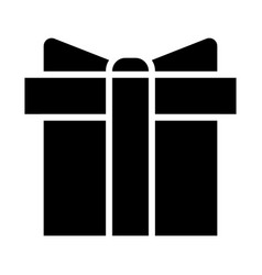 gift box silhouette icon 48x48 minimal pictogram vector image