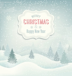 Retro holiday christmas background with winter vector
