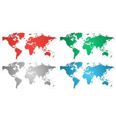 set of world gradient maps vector image