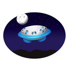 alien spacecraft vector image vector image