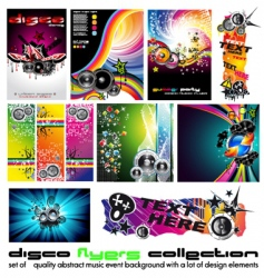 music background set vector image vector image