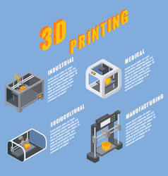 3d printing applications concept vector image