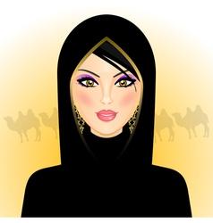 Arab woman vector image