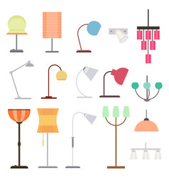 colorful indoor lights collection vector image