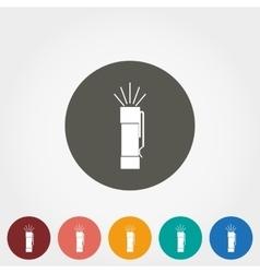 Flashlight icon vector