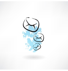 Flying envelopes grunge icon vector image vector image