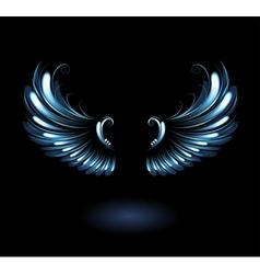 glowing angel wings vector image vector image
