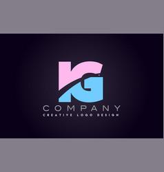 ig alphabet letter join joined letter logo design vector image