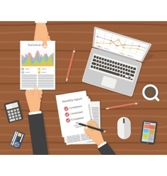 Office workplace Businessman meeting vector image vector image