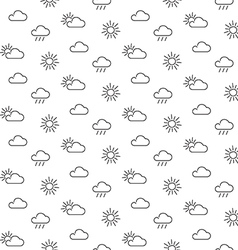 Weather sun clouds seamless pattern vector
