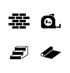 building works simple related icons vector image
