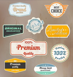 retro label colection vector image