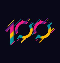 100 years anniversary celebration template design vector