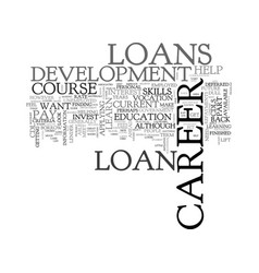 A guide to career development loans text word vector