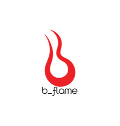 Abstract letter b flame design logo vector