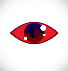 Art modern of human eye part of personality face vector image