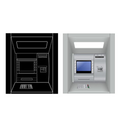 Atm isolated on white vector