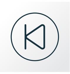 backward icon line symbol premium quality vector image