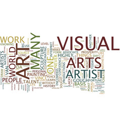 Basis visual arts text background word vector