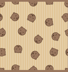 bear seamless pattern background textile for vector image