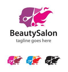 Beauty salon logo template design vector