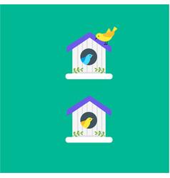 bird house with birds vector image