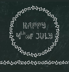 Black board background happy usa independence day vector