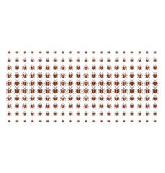Bug shape halftone array vector