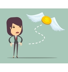 Businesswoman has no money vector