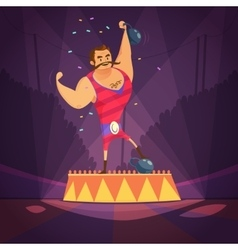 Circus athlete vector