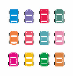 Colorful car icons vector