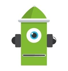 Colorful green robot icon vector