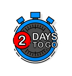 Countdown two days to go banner count time sale vector